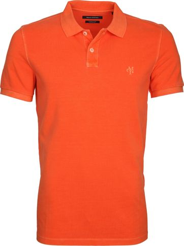 Marc O'Polo Polo Garment Dyed Oranje