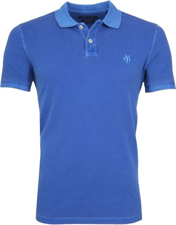 Marc O'Polo Polo Garment Dyed Waterfall Blauw