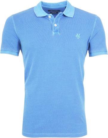 Marc O'Polo Poloshirt Garment Dyed Azure Blue