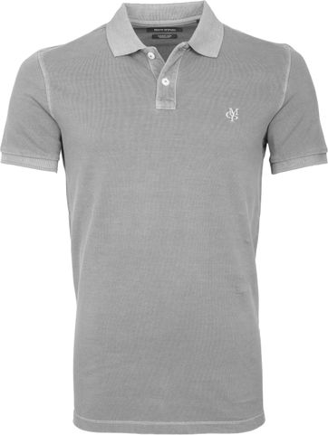 Marc O'Polo Poloshirt Garment Dyed Grey