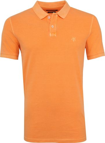 Marc O'Polo Poloshirt Garment Dyed Papaya Orange