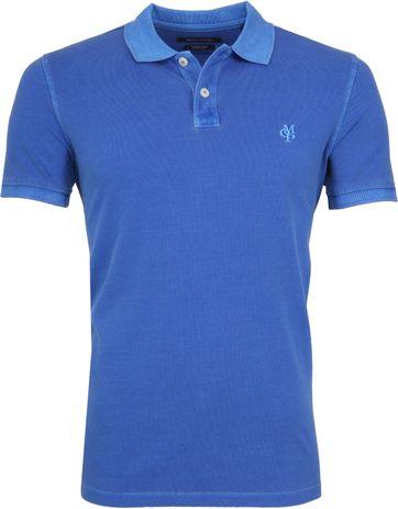 Marc O'Polo Poloshirt Garment Dyed Waterfall Blau
