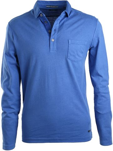 Marc O\'Polo Poloshirt Lange Ärmel Blau