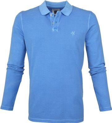 Marc O'Polo Poloshirt LS Blauw