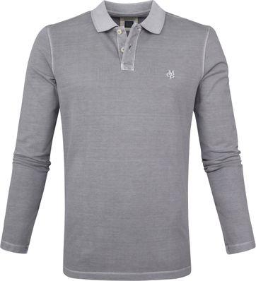 Marc O'Polo Poloshirt LS Grau