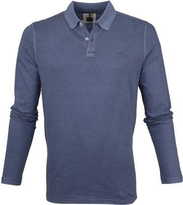 Marc O'Polo Poloshirt LS Streifen Dunkelblau