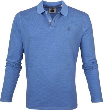 Marc O'Polo Poloshirt LS Strepen Blauw