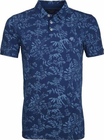Marc O'Polo Poloshirt Print Blau