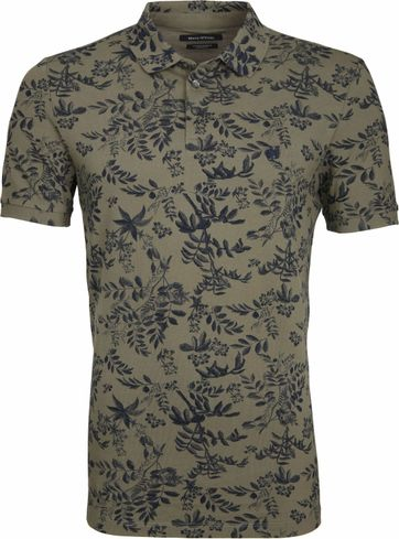 Marc O'Polo Poloshirt Print Green