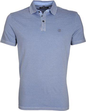 Marc O\'Polo Poloshirt Rib Detail Blue