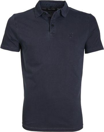 Marc O'Polo Poloshirt Rib Detail Navy