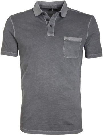 Marc O\'Polo Poloshirt Rib Grau