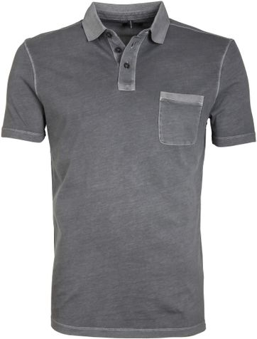 Marc O\'Polo Poloshirt Rib Grey