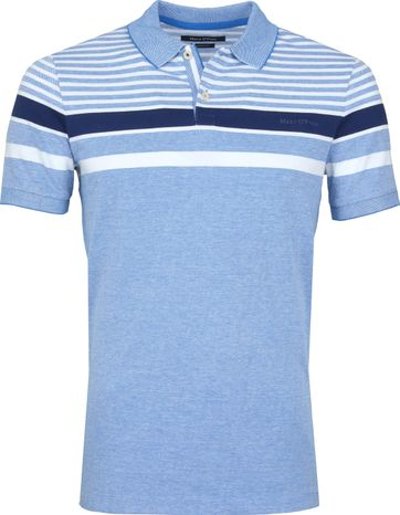 Marc O'Polo Poloshirt Streifen Blau