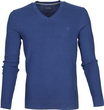Marc O\'Polo Pullover Blau Baumwolle