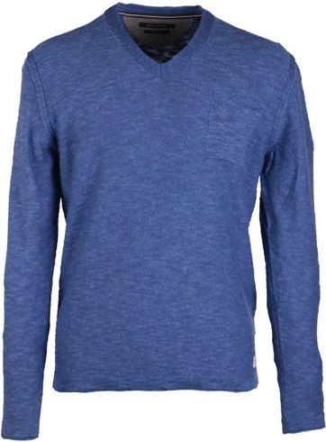 Marc O'Polo Pullover mit V-Ausschnitt Blue