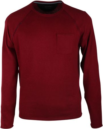Marc O\'Polo Pullover Rundhals Bordeaux