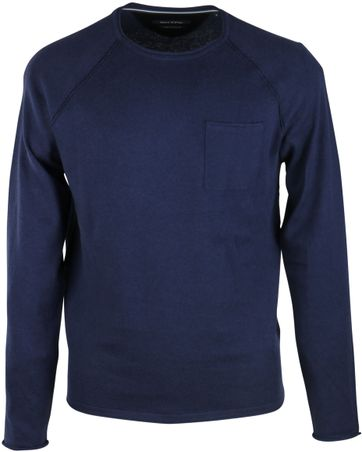 Marc O\'Polo Pullover Rundhals Dunkelblau