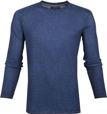 Marc O'Polo Pullover Structured Dark Blue