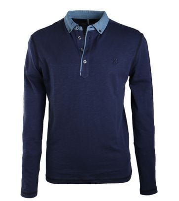 Marc O\'Polo Rugby Polo Donkerblauw