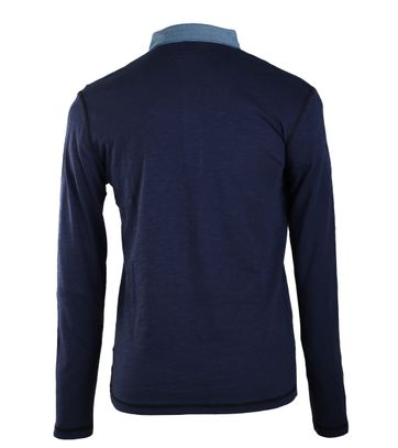 Detail Marc O\'Polo Rugby Polo Donkerblauw