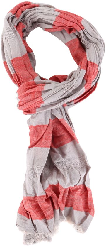 Marc O'Polo Scarf Red Stripe