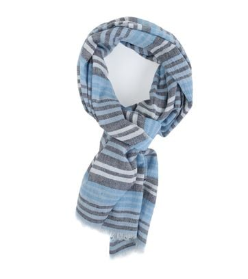 Marc O\'Polo Scarf Stripes blue