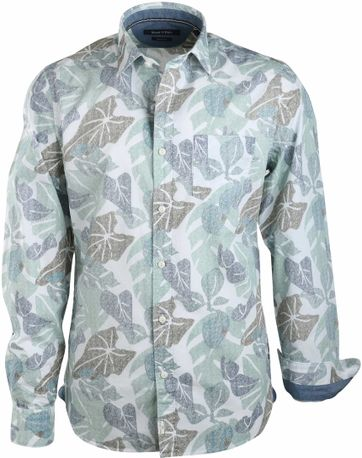 Marc O'Polo Shirt Green Prints