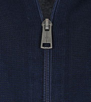 Detail Marc O\'Polo Strickjacke Reißverschluss dunkelblau
