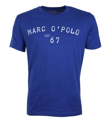 Marc O\'Polo T-Shirt Logo Blau