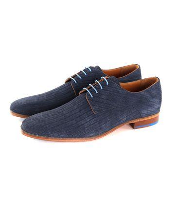 Melik Schuh Leder Bambu Dunkelblau