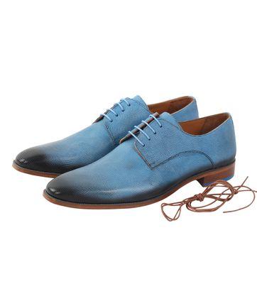 Melik Schuh Leder Hallav Blau
