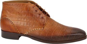 Melik Schuhe Argun Cognac