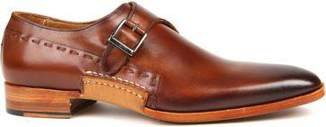 Melik Shoes Strap Mozzo Cognac