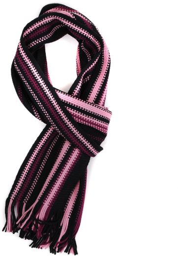 Men's Scarfs Pink Striped 14-9