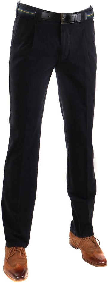 Meyer Pleated Pants Navy