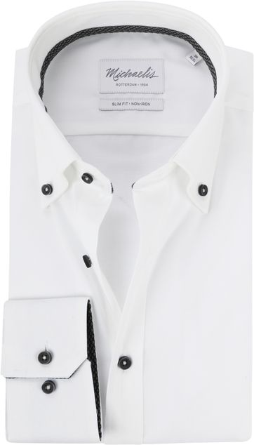 Michaelis Hemd Button Down Weiss