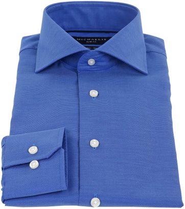 Michaelis Hemd Skinny Blauw
