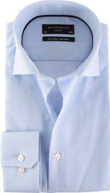 Michaelis Hemd Skinny Streifen Blau