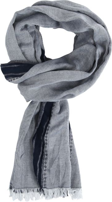 Michaelis Men's Scarf Grey Navy