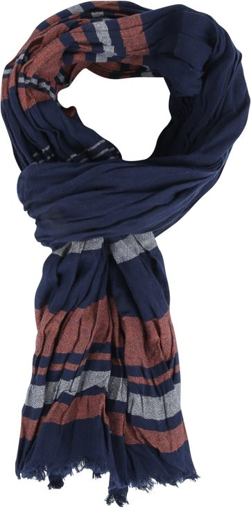 Michaelis Men's Scarf Navy Stripe