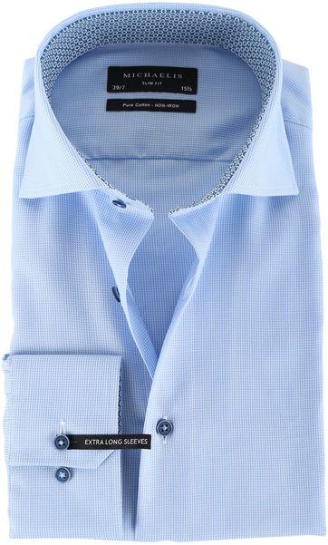 Michaelis Overhemd Dessin Blauw SL7