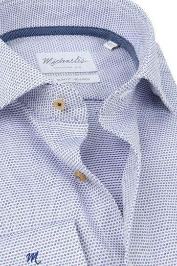 Michaelis Overhemd Dobby Blauw SL7