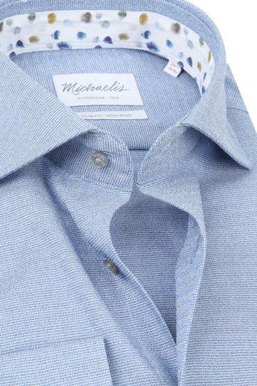Michaelis Overhemd Melange Blauw SL7