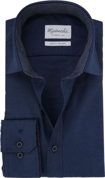 Michaelis Overhemd Non Iron Navy