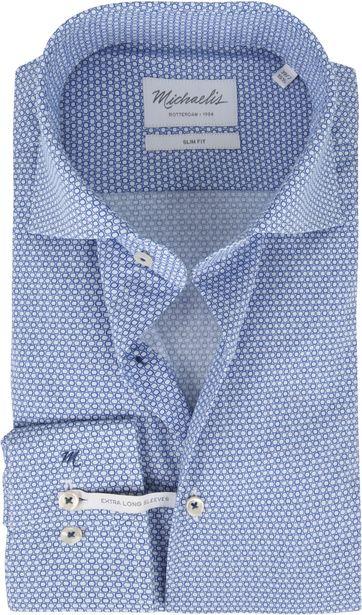 Michaelis Overhemd Poplin Blauw SL7