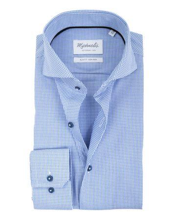 Michaelis Overhemd SF Blau Dessin
