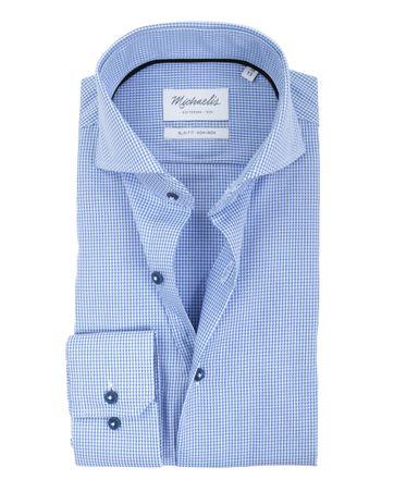 Michaelis Overhemd SF Blauw Dessin