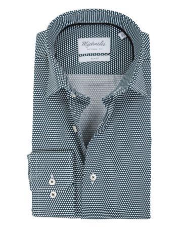 Michaelis Overhemd SF Groen Dessin