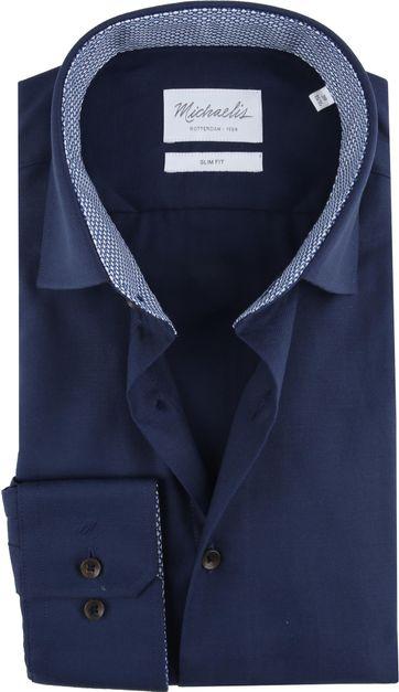 Michaelis Overhemd Skinny Navy Twill